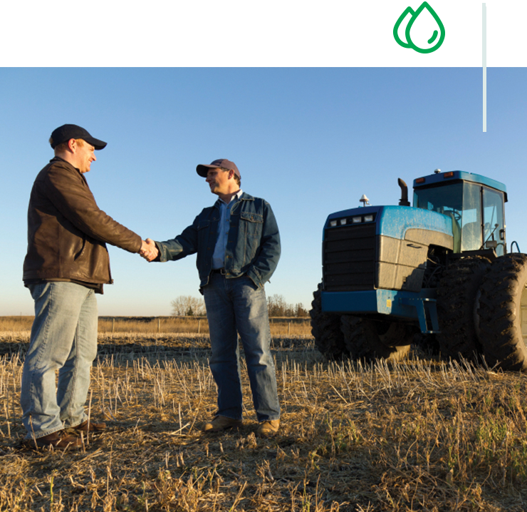 Fuel Distributor speaking with a farmer
